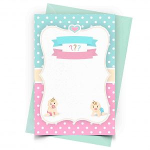 Gender Reveal Invitation Personalized 1