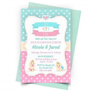 Gender Reveal Invitation Personalized
