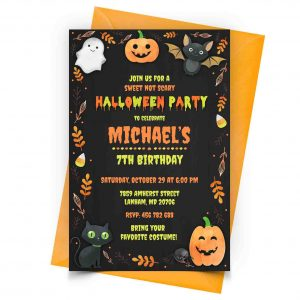 Personalized Halloween Invitation 1