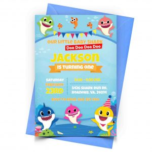 Personalized Baby Shark Invitation 1