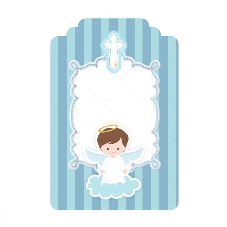 Free Blue Angel Baptism Angel Tag