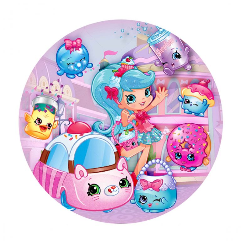 Free Shopkins Round Label