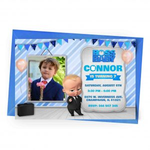 Customize Boss Baby Invitation with Photo 1