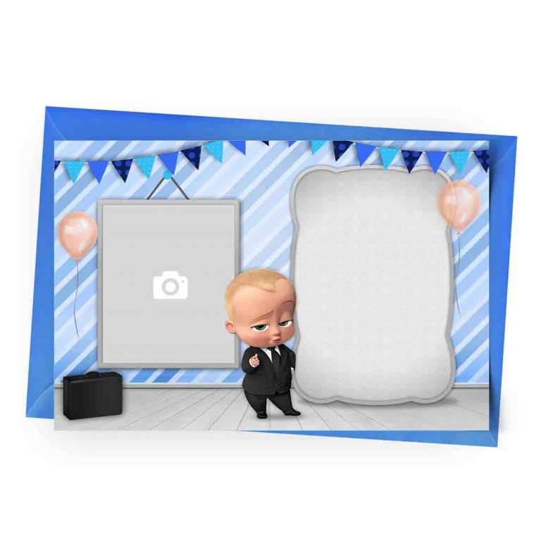 Customize Boss Baby Invitation with Photo
