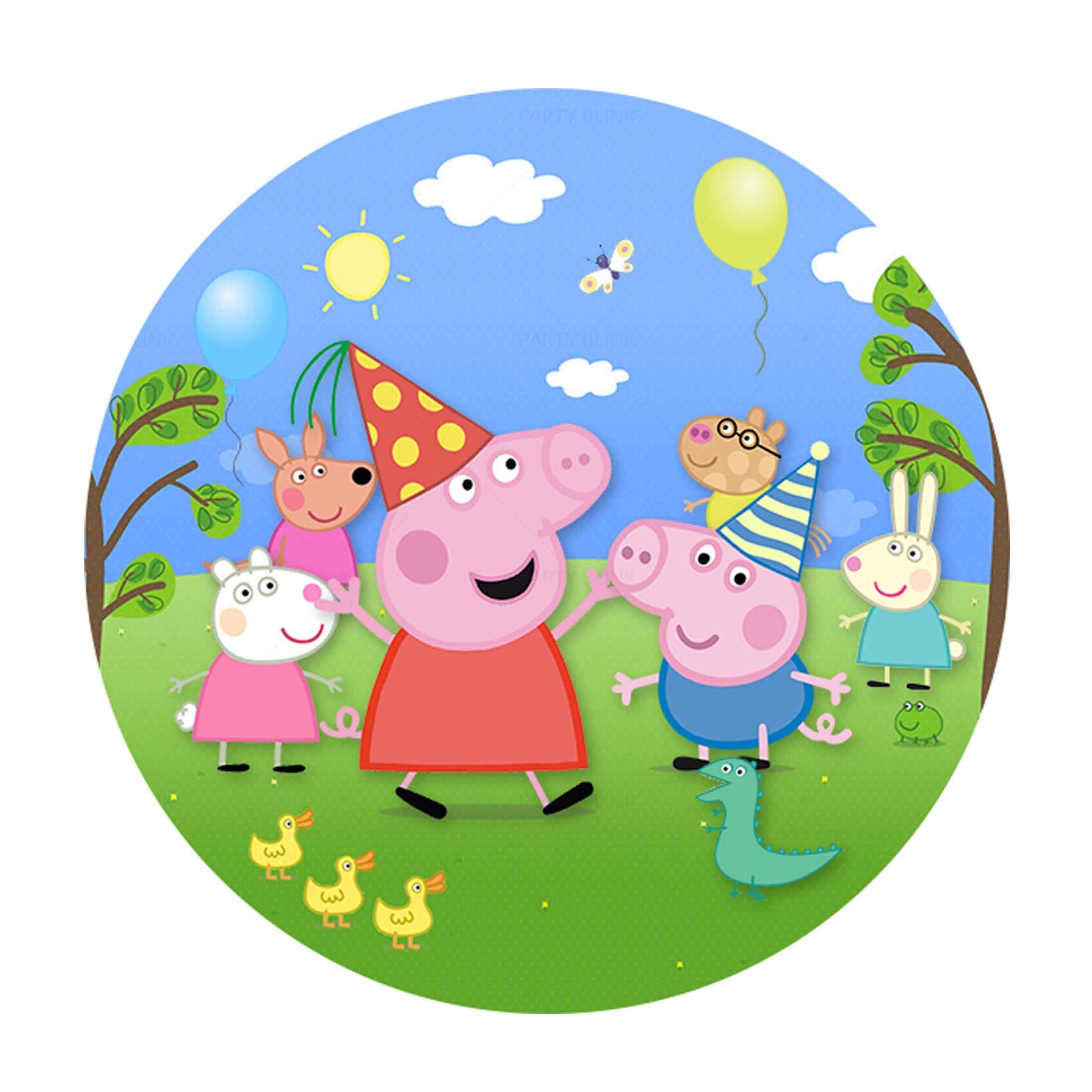 Free Peppa Pig Round Label