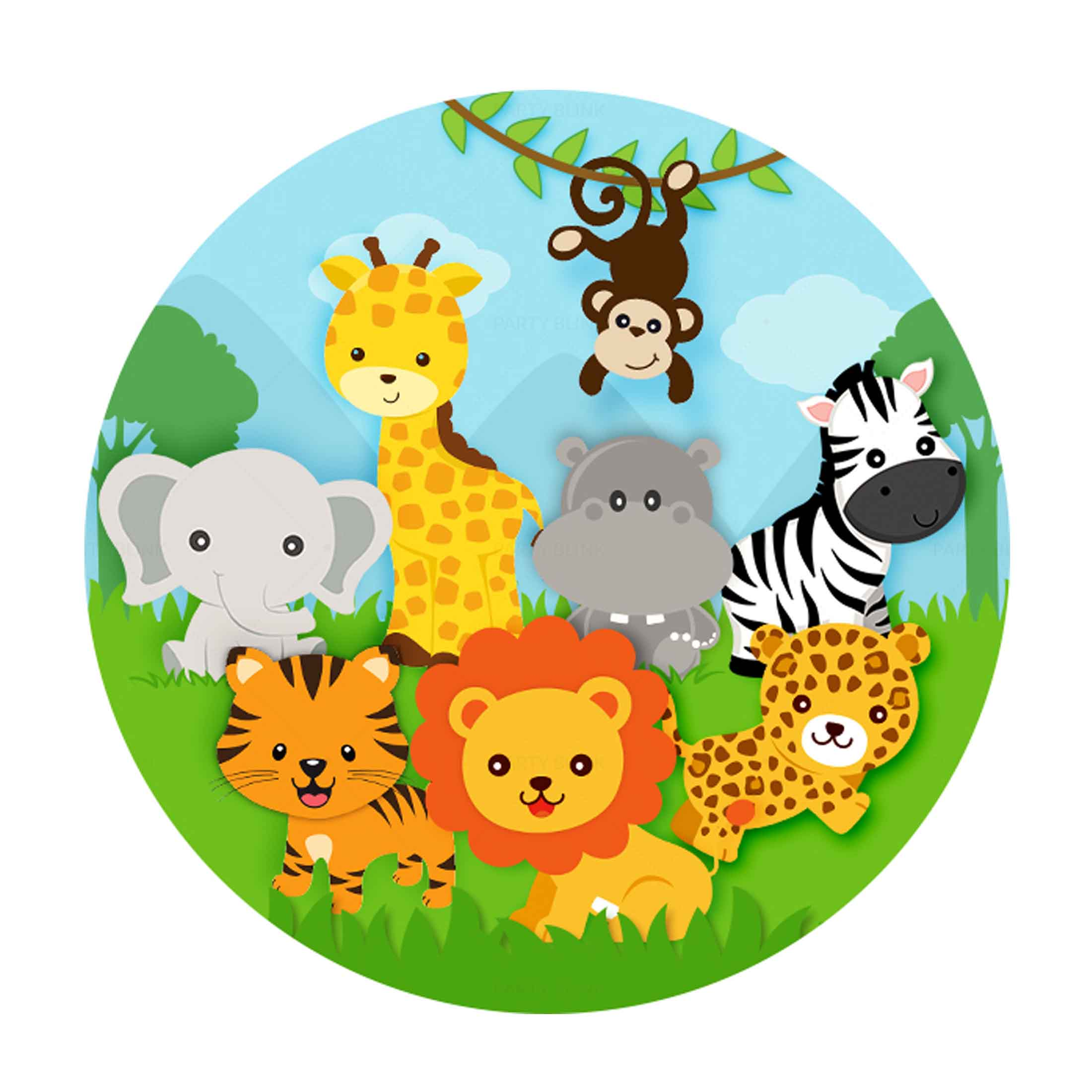 Free Safari Round Label