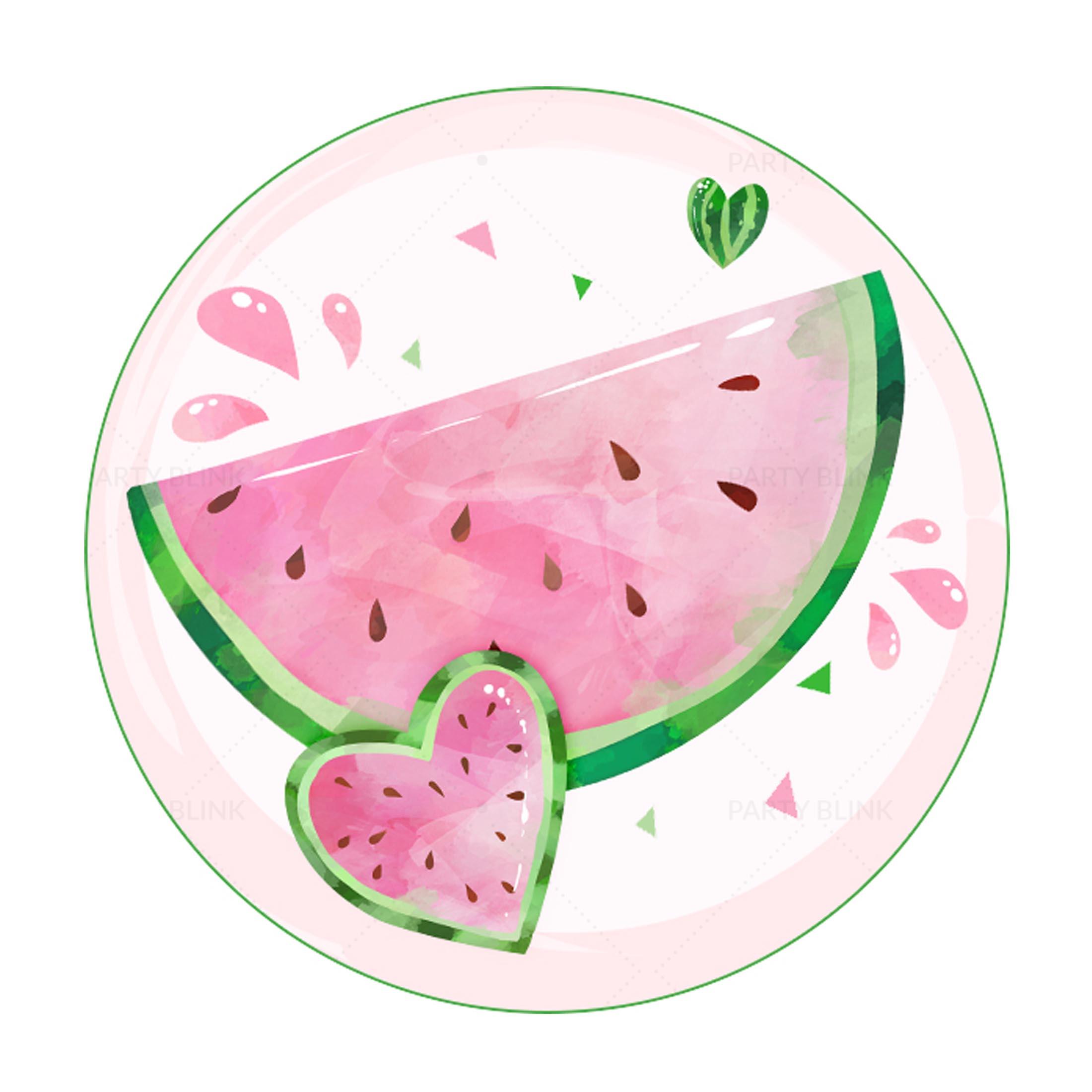 Free Watermelon Round Label
