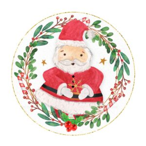 Christmas Round Label