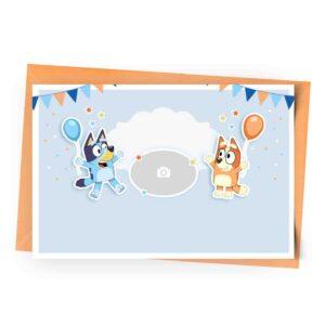 Personalized Bluey Invitation with Photo