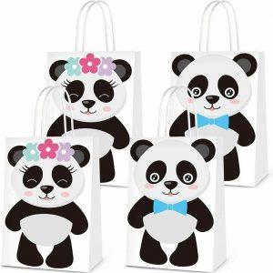 6 PCS Party Favor Bags for Panda Birthday ebay