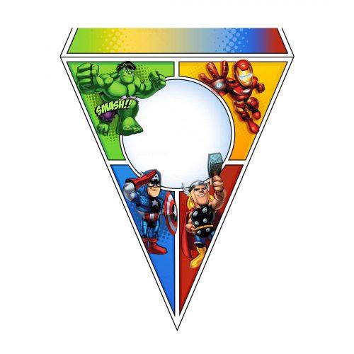 Printable Avengers Letter Flag Free