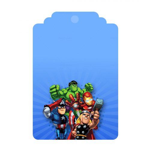 Printable Avengers Tag Free Template