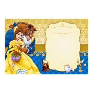 Beauty and the Beast Invitation Free Printables