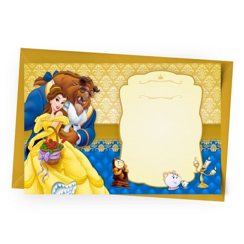 Blank Beauty and the beast Invitation Online