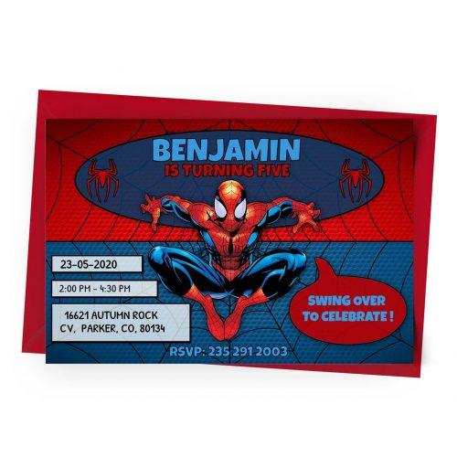 Customize Spider-Man Invitation Online