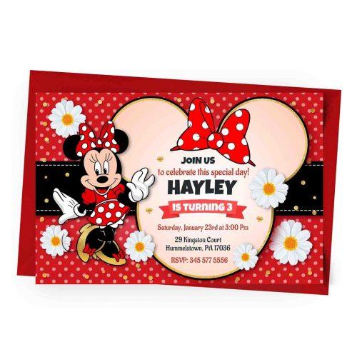 Customizable Minnie Invitation
