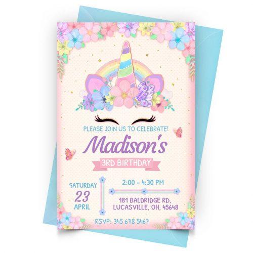 Free Customizable Unicorn Invitation Template Online