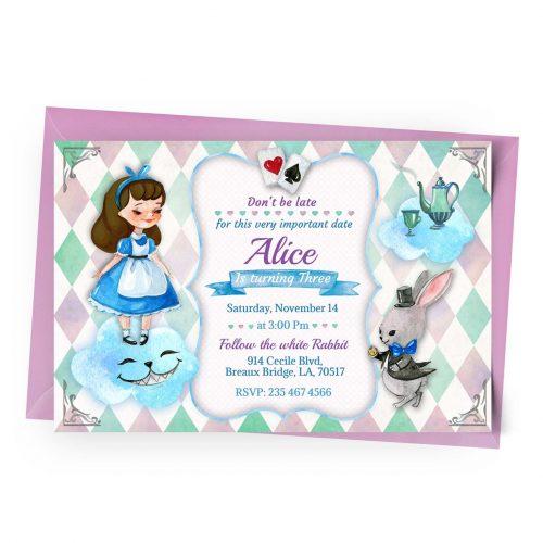 Customize Alice in Wonderland Invitation Online
