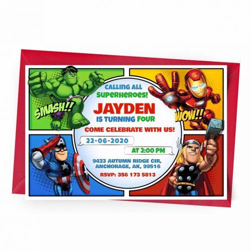 Customize Avengers Invitation Online