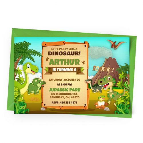 Customize Dinosaurs Invitation Online