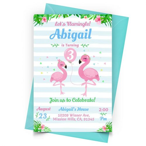 Customize Flamingo Invitation Online