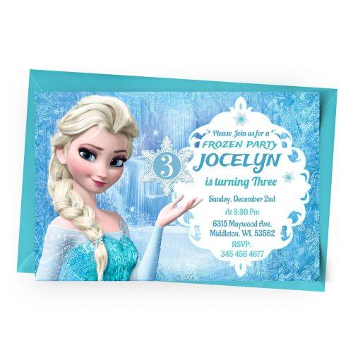 Customize Frozen Invitation Online