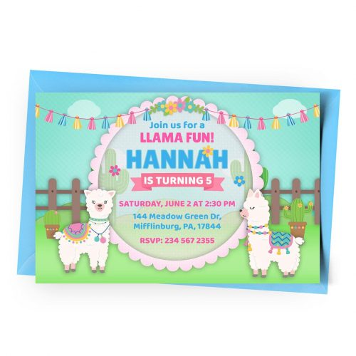 Customize Llama Invitation Online