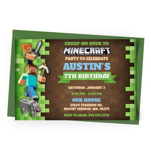 Customize Minecraft Invitation Online