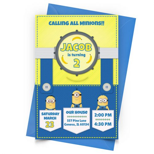Customize Minions Invitation Online