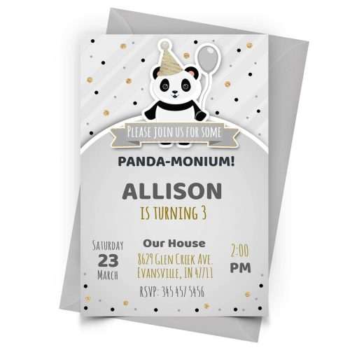 Customize Panda Invitation Online