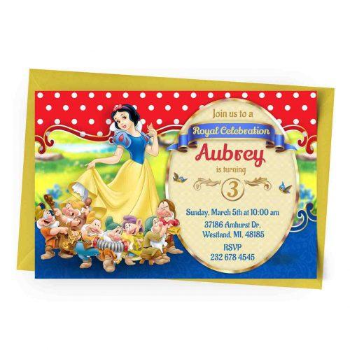 Customize Snow White Invitation Online