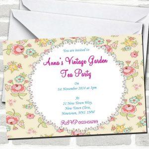 Enchanted Garden Invitation