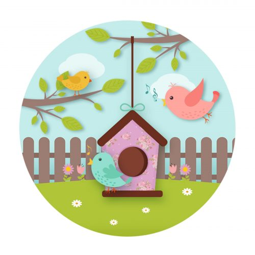 Enchanted Garden Round Label Free