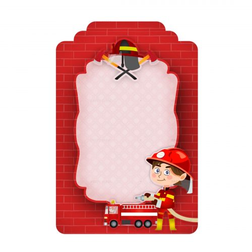Free Firefighter Printable Tag editable template to download and print