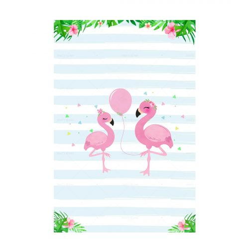 Flamingo Printable Invitation Free