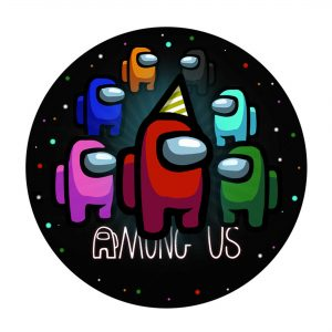 Free Among Us Round Label