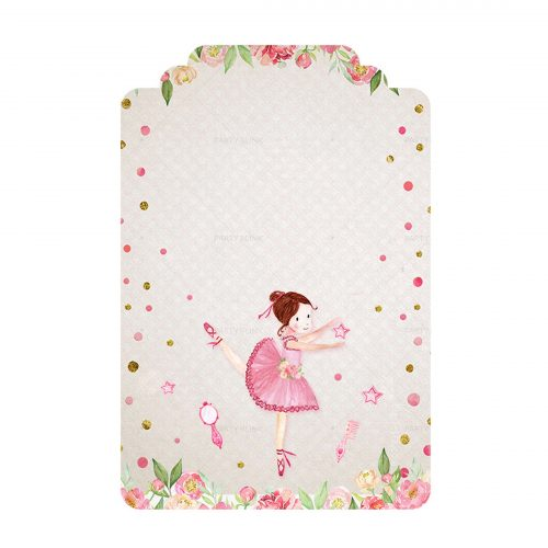 Free Ballerina Tag Editable Template download and print