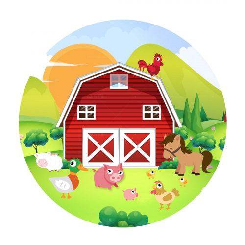 Free Barnyard Round Label
