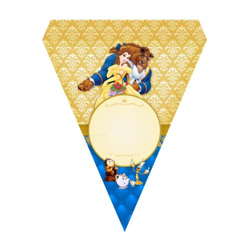 Free Beauty and the Beast Letter Banner Printables