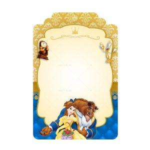 Free Beauty and the Beast Tag Label Editable Template