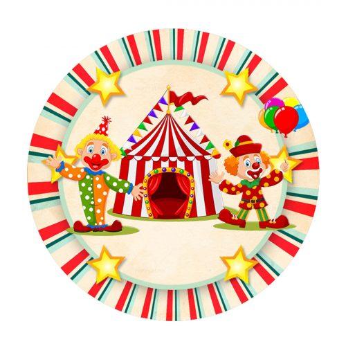 Free Circus Round Label