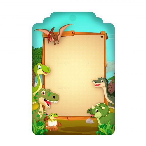 Free Dinosaurs Tag Editable Template download and print