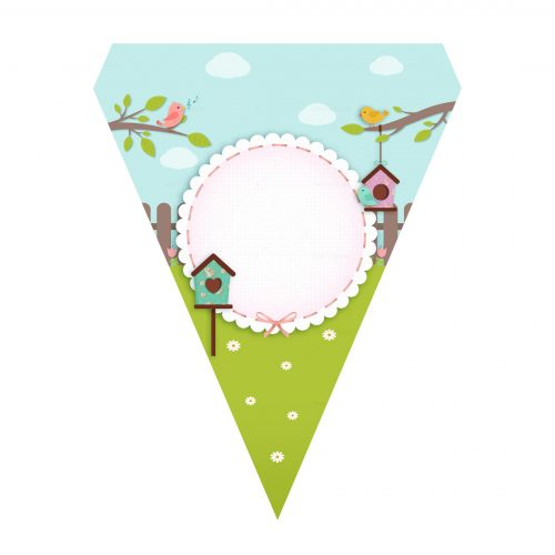 Free Enchanted Garden Letter Banner Free