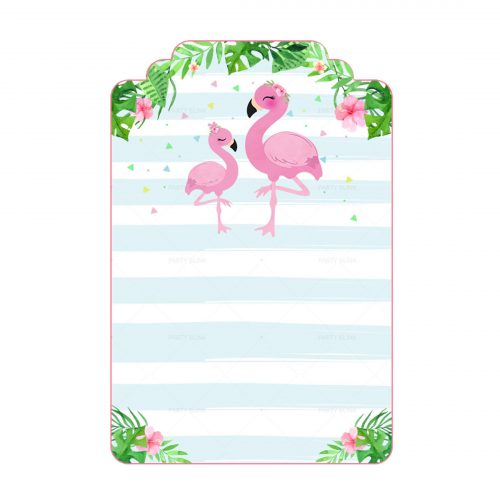Free Flamingo Tag Editable Template download and print
