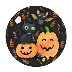 Free Halloween Round Label