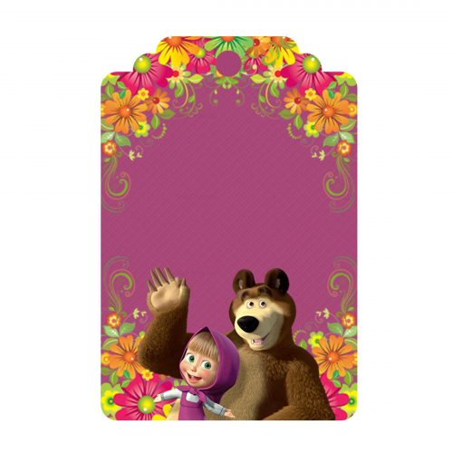 Free Masha and the Bear Tag to download and print