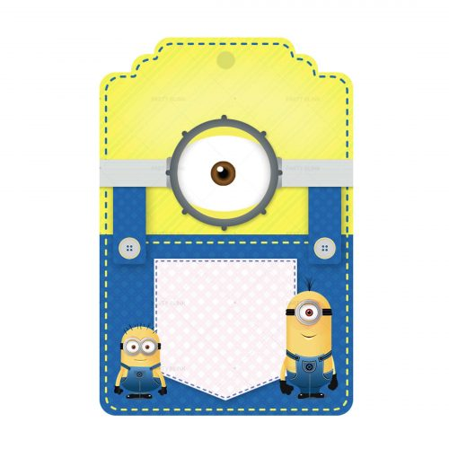 Free Minions Tag Label Editable Template