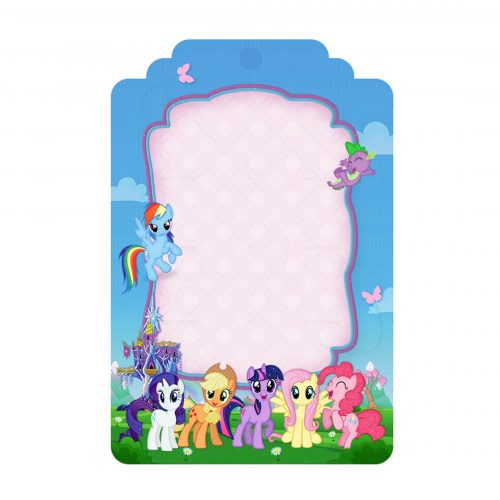 Free My Little Pony Tag Label Editable Template