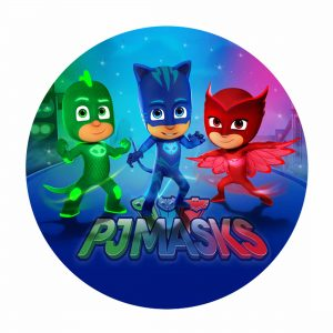Free PJ Masks Round LAbel