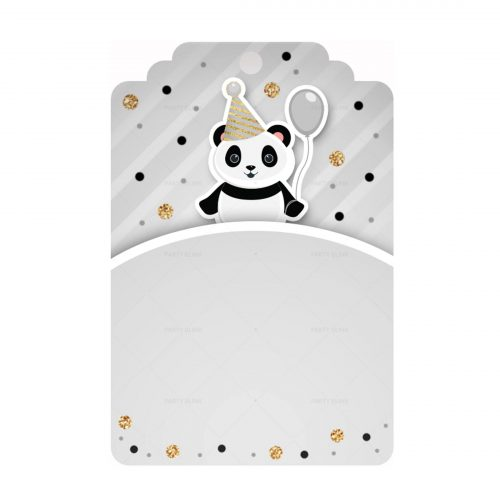 Free Panda Printables - Tag editable template to download and print